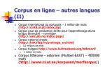 corpus en ligne autres langues ii