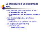 la structure d un document xml