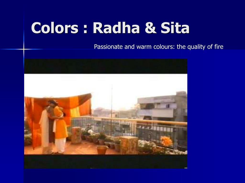 Colors : Radha & Sita