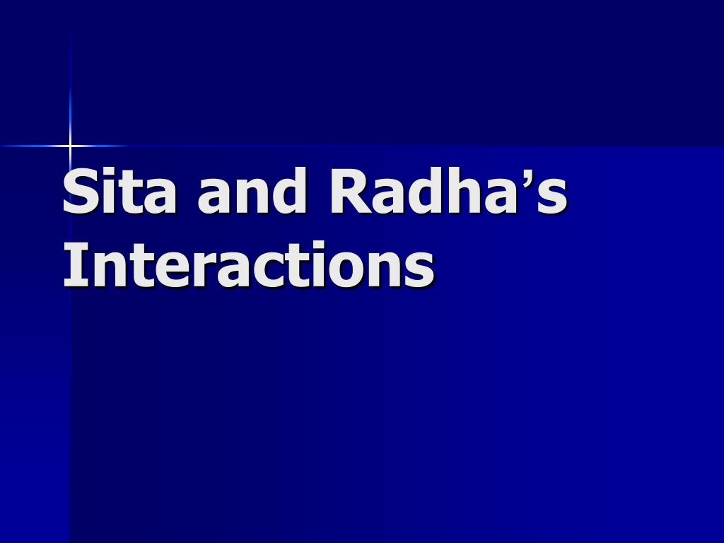 Sita and Radha