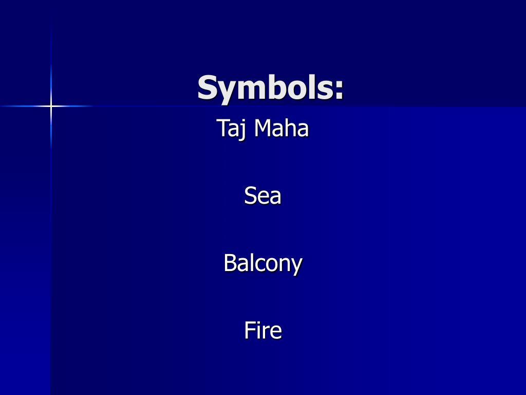 Symbols: