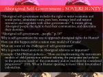 aboriginal self government sovereignty