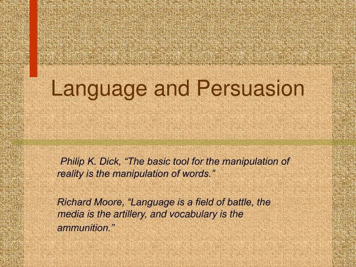 language and persuasion n.