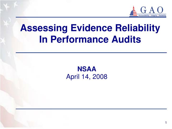 assessing evidence reliability in performance audits n.