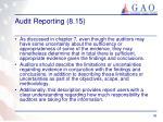 audit reporting 8 151