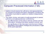 computer processed information 7 65