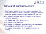 concept of significance 7 04
