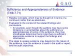 sufficiency and appropriateness of evidence 7 69 7 71