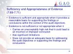 sufficiency and appropriateness of evidence 7 69 7 711