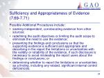 sufficiency and appropriateness of evidence 7 69 7 713