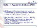 sufficient appropriate evidence 7 56