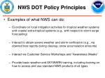 nws dot policy principles11