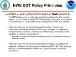 nws dot policy principles13