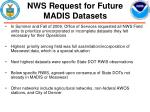 nws request for future madis datasets22