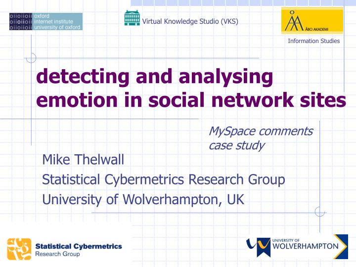 detecting and analysing emotion in social network sites n.