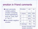 emotion in friend comments