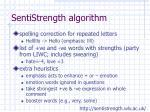 sentistrength algorithm