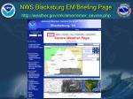 nws blacksburg em briefing page