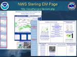 nws sterling em page