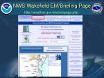 nws wakefield em briefing page14