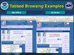tabbed browsing examples