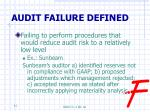audit failure defined