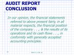 audit report conclusion