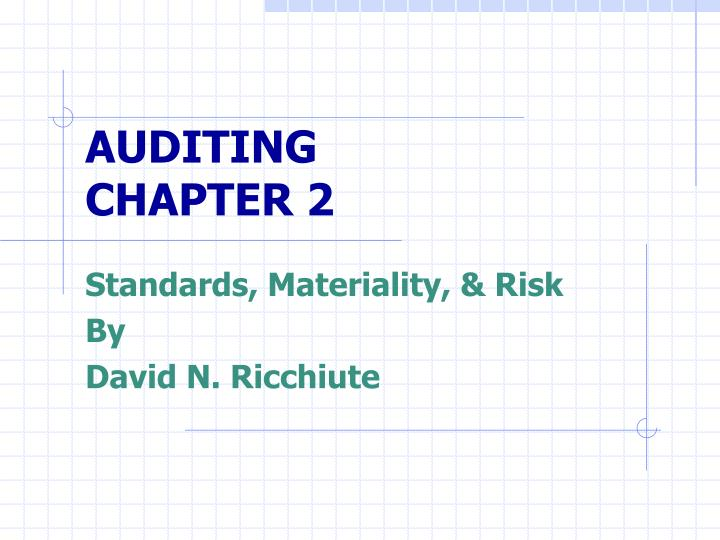 auditing chapter 2 n.