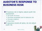 auditor s response to business risk