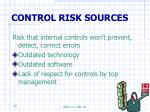 control risk sources