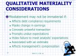 qualitative materiality considerations