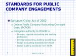 standards for public company engagements