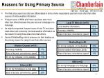 reasons for using primary source17