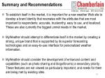 summary and recommendations41