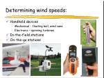 determining wind speeds