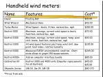 handheld wind meters