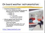 on board weather instrumentation