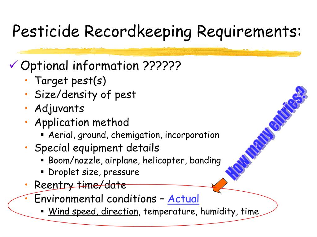 Pesticide Recordkeeping Requirements: