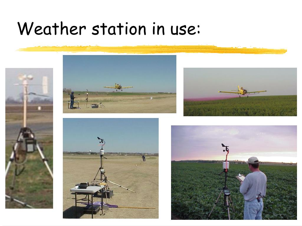 Weather station in use: