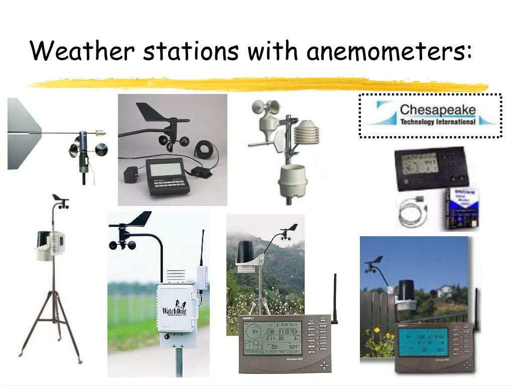 Weather stations with anemometers: