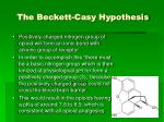 the beckett casy hypothesis