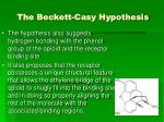 the beckett casy hypothesis2
