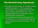 the beckett casy hypothesis3