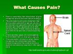 what causes pain