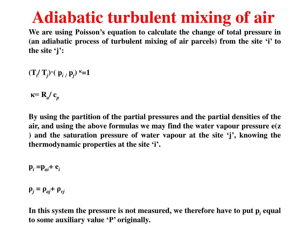 Adiabatic turbulent mixing of air