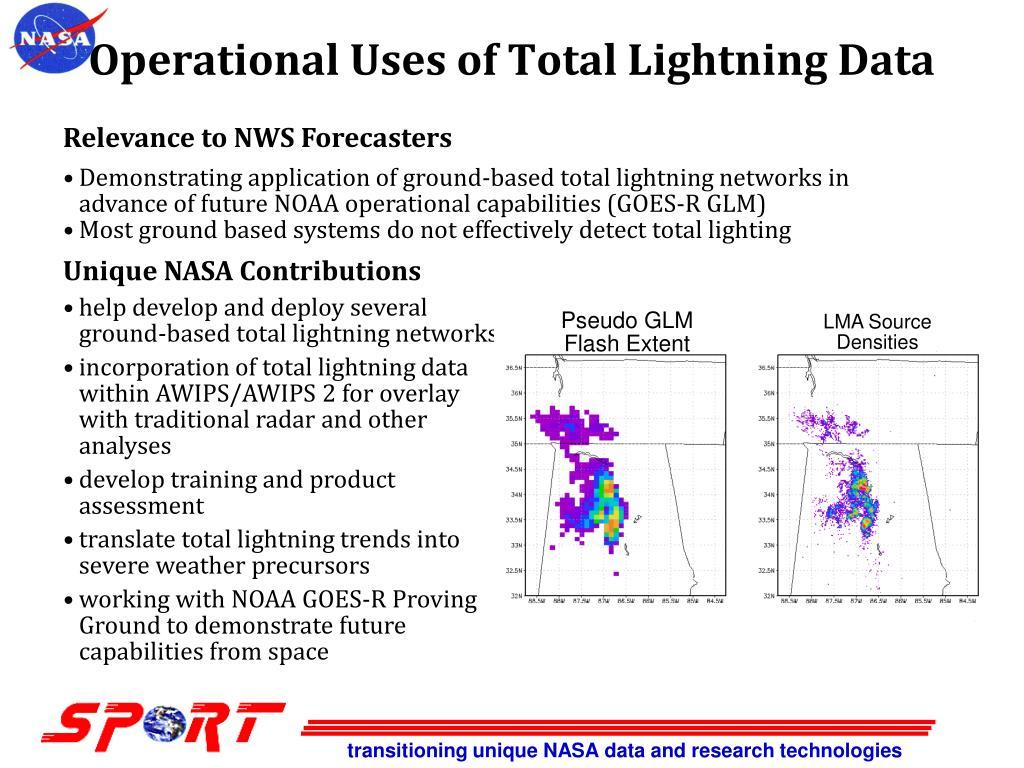 Operational Uses of Total Lightning Data