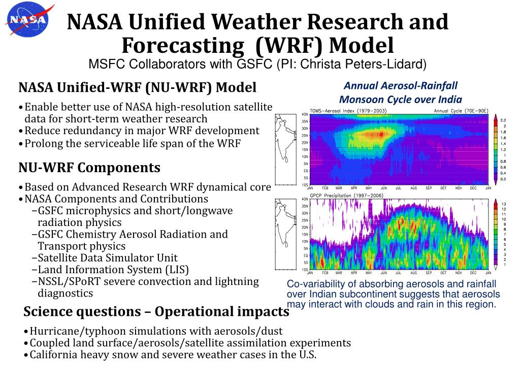 NASA Unified Weather Research and Forecasting  (WRF) Model