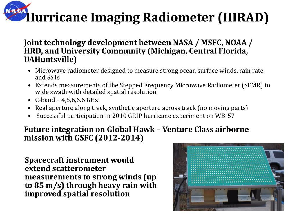 Hurricane Imaging Radiometer (HIRAD)
