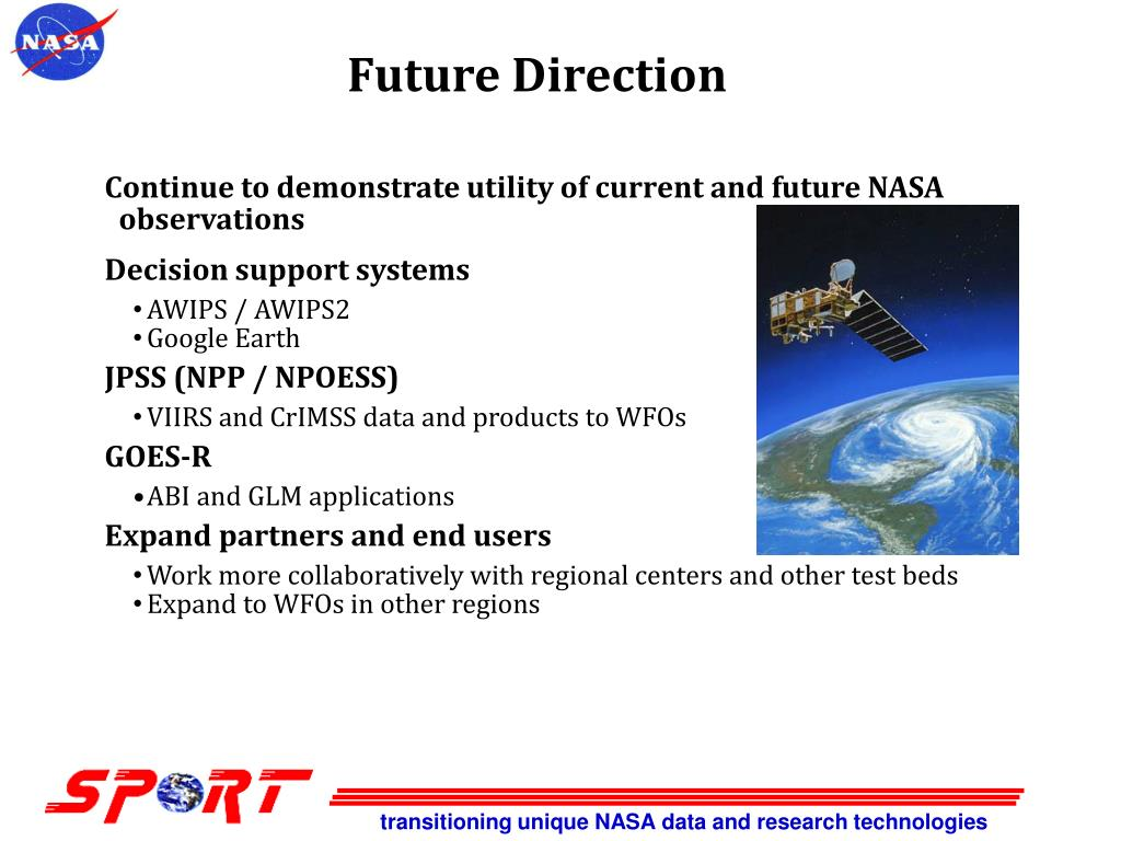 transitioning unique NASA data and research technologies