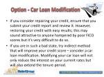 option car loan modification